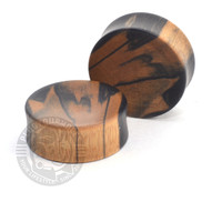 Black and White Ebony - Custom Made - Exotic Wood Plugs