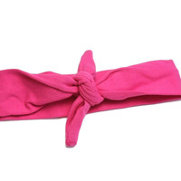 Hot Pink Knotted Headband
