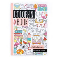 OOLY Retro Summer Travel Size Color-in' Book