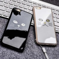 I6 6S Grumpy Cat Phone Cases Black White TPU Mirror Case For Iphone 6 6S 4.7 Soft Silicone Cover Rubber Skin Women Girl Capa