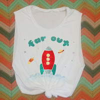 Far Out 70s Retro Muscle Tee