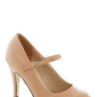ModCloth Patent Office Heel in Blush