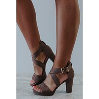 Out All Night Heels: Taupe