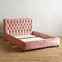 Slub Velvet Tufted Lena Bed
