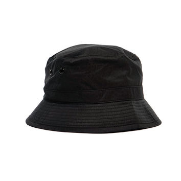 Bucket Hat / Hat. Polyester. Black