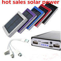 Solar Power Bank External Battery 12000mah external battery powerbank Solar Charger for iPhone for HTC for PSP