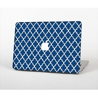 The Navy & White Seamless Morocan Pattern Skin Set for the Apple MacBook Pro 15""