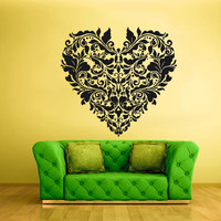 Wall Vinyl Sticker Decals Art Decor Mural Eye Heart Flowers Curly Mandala (z1937)