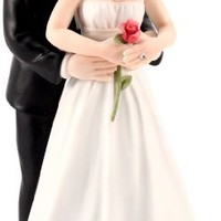 Yes to the Rose Bride and Groom Couple Figurine
