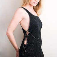 PopLove black & gray splatter chain tank made from recycled