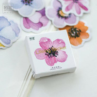 45 pcs pack Colorful Flowers Label Stickers Decorative Stationery Stickers Scrapbooking DIY Diary Album Stick Lable