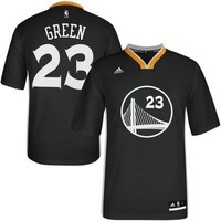 Men's Golden State Warriors Draymond Green adidas Slate Replica Jersey