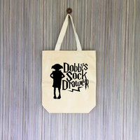 Dobby Harry Potter Canvas Tote Bag - Grocery Bag - Beach Bag - Book Bag