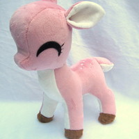 Merry- pink fawn plush