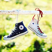 """Wearwinds """"Converse"""" Fashion Canvas Flats Sneakers Sport Shoes High tops Beige"""
