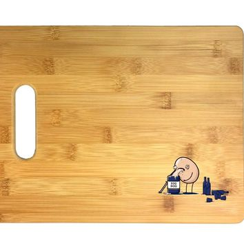 """""""Egg Nog"""" How It's Made Humor 3D COLOR Printed Bamboo Cutting Board - Wedding, Housewarming, Anniversary, Birthday, Mother's Day, Gift"""