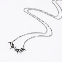Cheap Monday Silver Barbed Wire Necklace - Urban Outfitters