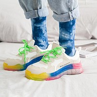 BALENCIAGA 19SS Triples Colorful Rainbow Color Shoes Daddy Shoes