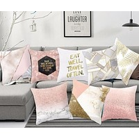 Removable Bright Shiny Cushion Cover For Home  Decor