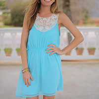 On Top Of The World Dress, Blue