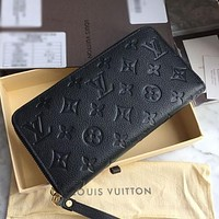 High-quality Louis Vuitton LV Classic Zipper Coin Purse Mobile Phone Bag Men's and Women's Long Wallet Clutch