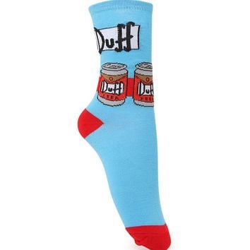 With Love From CA Duff Beer Boots Socks - Womens Scarves - Blue - One