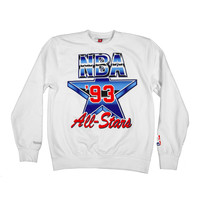 1993 Nba All Star Westcoast Crewneck Sweatshirt White