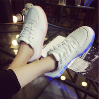 Unisex LED Light Lace Up Luminous Shoes Sportswear Sneaker Luminous Casual Shoes = 1704291588