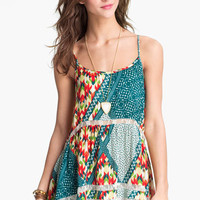 Mimi Chica Vintage Print Babydoll Camisole (Juniors) | Nordstrom