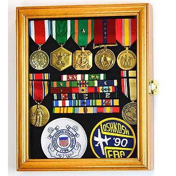 XS Military Pin Display Case Cabinet Box for Medals Pins Patches Insignia