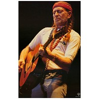Willie Nelson Live Portrait Poster 11x17