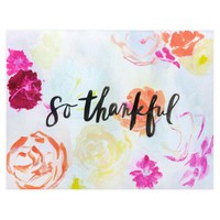 So Thankful Folded Thank You Cards Boxed