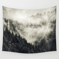 In My Other World // Old School Retro Edit Wall Tapestry by Tordis Kayma