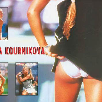 Anna Kournikova Tennis Pin-Up Poster 24x34