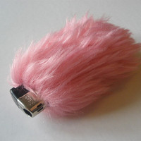 Cute Fluffy Lighter Cover Case Faux Fur Flamingo Pink