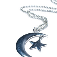 Fad Treasures Over The Moon Necklace Silver One