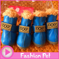 Pet Product Super Warm Dog Winter Shoes Woman Fall 4pcs/set Dog's Boot Anti Slip XS XL for Pet Dog waterproof ChiHuaHua Girl Cat