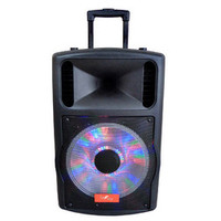 """beFree Sound 12"""""""" Bluetooth Portable Speaker with Sound/Volume Reactive Lights USB and SD Inputs"""
