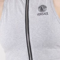 Vintage Re-Work Versace Crop Zip Tank