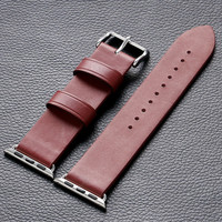 38mm/42mm Leather Apple Watch Strap Red High Quality watch Band for Apple Smart Watches PD0141