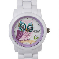 Sprout Owl Face Watch White
