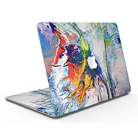 Bright White and Primary Color Paint Explosion - MacBook Air Skin Kit