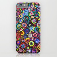 Circles and Squares iPhone & iPod Case by RokinRonda | Society6