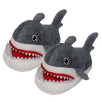 Suck Off Sharks Plush Slippers Shark cartoon plush slippers home autumn and winter shoes