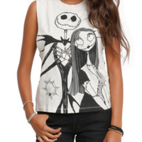 The Nightmare Before Christmas Web And Striped Girls Muscle Top