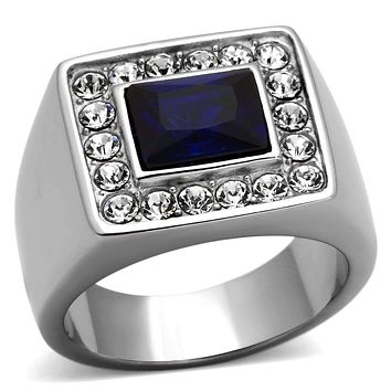 Mens Stainless Steel Rings TK1051 Stainless Steel Ring with Synthetic