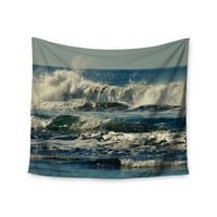 """Robin Dickinson """"Forever Young"""" Blue Coastal Wall Tapestry"""