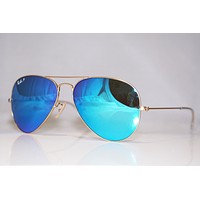 RAY-BAN Mens Designer Polarized Sunglasses Blue Mirror Aviator RB 3025 112/4L