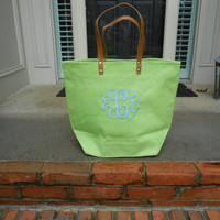 16 Brown Jute totes for Heather with pink monograms