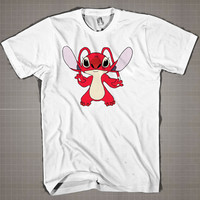 Stitch Red-Stitch Experiment  Mens and Women T-Shirt Available Color Black And White